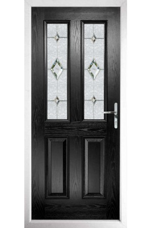 The Cheshire Black Composite Door with Crystal Diamond