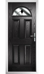 The Durham Black Composite Door with Black Diamonds