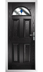 The Durham Black Composite Door with Blue Diamonds