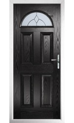 The Durham Black Composite Door with Classic Glazing