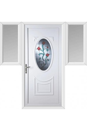 Maidenhead Tulip uPVC Door with Two Flags