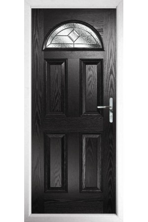 The Durham Black Composite Door with Simplicity