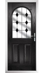 The Essex Black Composite Door with Black Diamonds