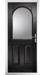 The Essex Black Composite Door with Clear Glazing
