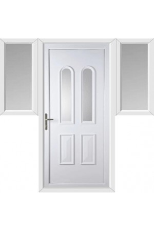Newport Clear Glazed uPVC Door with Two Flags