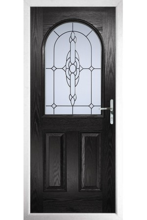 The Essex Black Composite Door with Crystal Bohemia Frost
