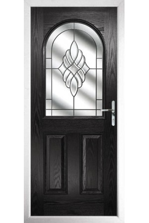 The Essex Black Composite Door with Crystal Eternity
