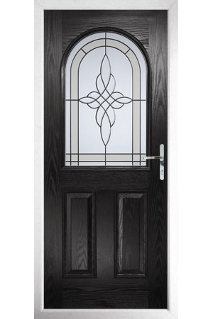 The Essex Black Composite Door with Crystal Harmony Frost