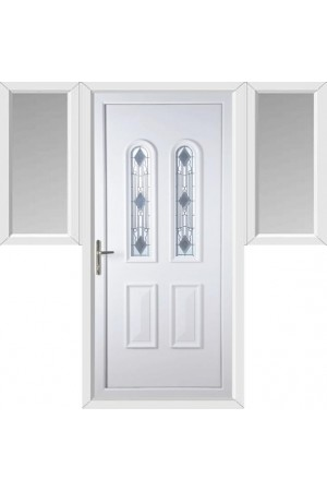 Newport Crystal uPVC Door with Two Flags
