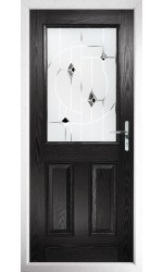The Fort William Black Composite Door with Black Murano