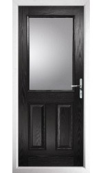 The Fort William Black Composite Door with Clear Glazing
