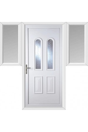 Newport New Faylin uPVC Door with Two Flags