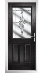 The Fort William Black Composite Door with Clear Crystal Bohemia