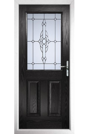 The Fort William Black Composite Door with Crystal Bohemia Frost