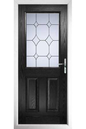 The Fort William Black Composite Door with Crystal Diamond