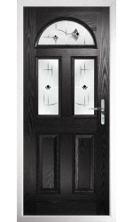 The Greater London Black Composite Door with Black Murano