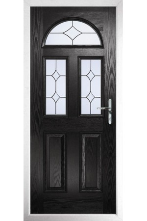 The Greater London Black Composite Door with Crystal Diamond
