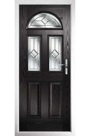 The Greater London Black Composite Door with Simplicity