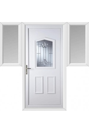 Oakham Coventry Bevel uPVC Door with Two Flags