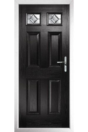 The Ilkeston Black Composite Door with Simplicity