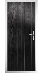 The Nottinghamshire Black Composite Door with Clear Glazing