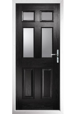 The Oxfordshire Black Composite Door with Clear Glazing