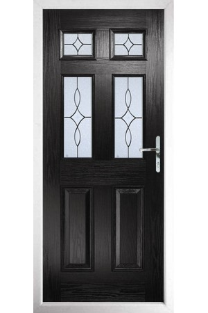 The Oxfordshire Black Composite Door with Flair Glazing