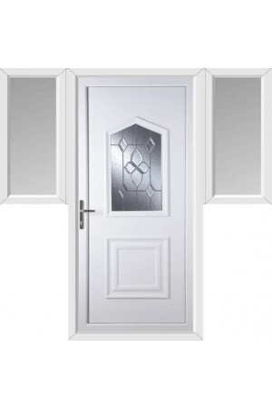 Poole Bevel Cluster uPVC Door with Two Flags