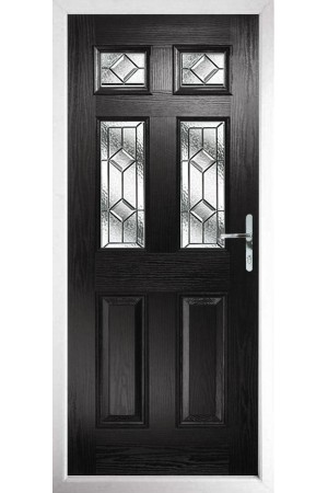 The Oxfordshire Black Composite Door with Simplicity