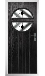 The Queensbury Black Composite Door with Black Diamonds
