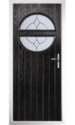 The Queensbury Black Composite Door with Classic Glazing
