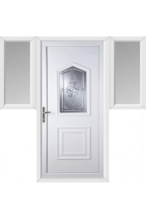 Poole New Connah uPVC Door with Two Flags