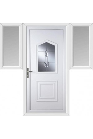 Poole Traditional Tulip uPVC Door with Two Flags