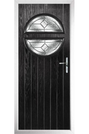 The Queensbury Black Composite Door with Simplicity