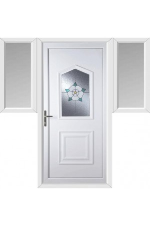 Poole Yorkshire Rose uPVC Door with Two Flags