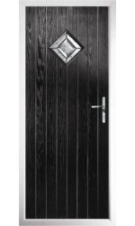 The Rutland Black Composite Door with Simplicity