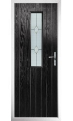 The Surrey Black Composite Door with Classic Glazing