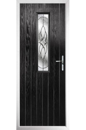 The Surrey Black Composite Door with Zinc Art Elegance