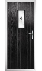 The Tyne & Wear Black Composite Door with Black Murano