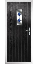 The Tyne & Wear Black Composite Door with Blue Diamonds