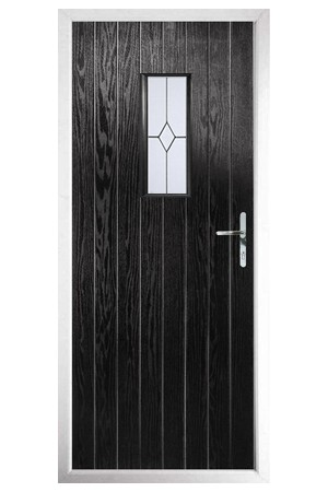 The Tyne & Wear Black Composite Door with Classic Glazing