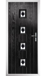 The Uxbridge Black Composite Door with Black Diamonds