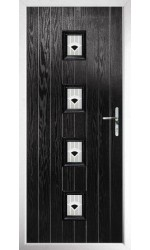 The Uxbridge Black Composite Door with Black Murano