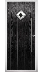 The West Midlands Black Composite Door with Black Diamonds