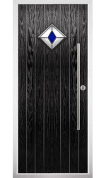 The West Midlands Black Composite Door with Blue Diamonds