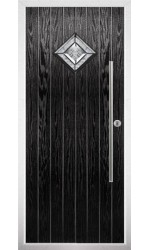 The West Midlands Black Composite Door with Simplicity