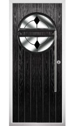 The Xenia Black Composite Door with Black Diamonds