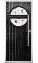 The Xenia Black Composite Door with Black Murano