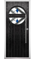 The Xenia Black Composite Door with Blue Diamonds