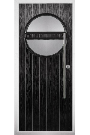The Xenia Black Composite Door with Clear Glazing